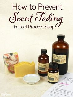 How to Prevent Scent Fading in Cold Process Soap. This website has links to other really good sites such as Bramble Berry for the ingredient calculator and info on first time soap makers. Diy Savon, Savon Soap, Soap Making Recipes, Homemade Soap Recipes, Homemade Paint, Homemade Cards, Wie Macht Man, Goat Milk Soap, Lotion Bars