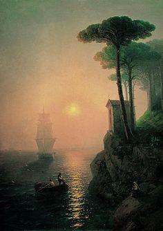Foggy morning in Italy - 1864 - Ivan Aivazovsky