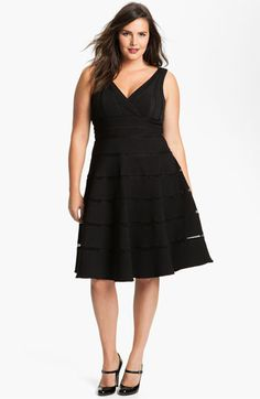 JS Collections Sleeveless Stretch Ottoman Dress (Plus) available at #Nordstrom
