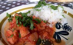 Breiflabbcurry Mat, Shrimp, Salsa, Mexican, Ethnic Recipes, Salsa Music, Mexicans