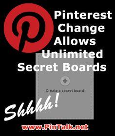 Pinterest Changes to Allow Unlimited Secret Boards #PinterestTutorial #PinterestHelp