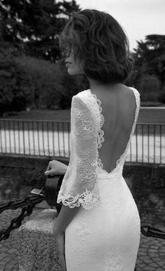 Liz Martinez Bridal Collection - Milan 2015 - Belle The Magazine Stunning Wedding Dresses, Dream Wedding Dresses, Wedding Gowns, Lace Wedding, Unconventional Wedding Dress, Beach Bride, Backless Wedding, Bridal Collection, Wedding Styles