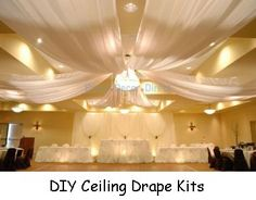 Wedding Ceiling Kits - FREE FLOWER TUTORIALS http://www.wedding-flowers-and-reception-ideas.com/make-your-own-wedding.html   Save money with DIY flowers, decorating and more.