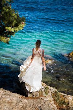 Bohemian beach bride / Croatia