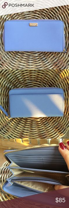 Kate Spade Periwinkle Wallet NWOT and in perfect condition kate spade Bags Wallets