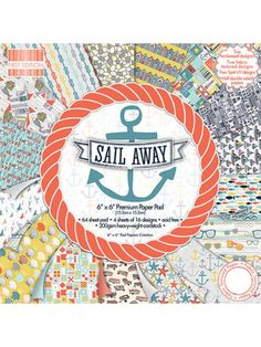 The First Edition Sail Away 6x6 Paper Pack features the bold and quirky designs by Jessica Hogarth, Encapsulating life by the seaside perfectly within her playful hand drawn illustrations. Enjoy crafting with these nostalgic craft papers and creating fantastic projects to be treasured.   The paper pack includes 64 6x6 sheets within the pad with embossed, fabric texture, UV effects and half double sided designs. Acid and lignin. Four you handmade crafting projects : card making, scrapbooking.