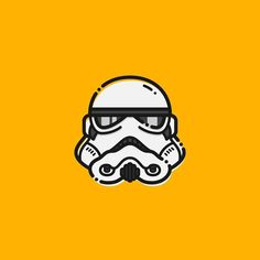 Original Stormtrooper Helmet. . .  #starwars #stormtrooper #icon #graphicgang #graphicdesignblog #pirategraphic #graphicdesign #lineart #simple #helmet #inspiration #showcase #iconaday by sleepingpasa