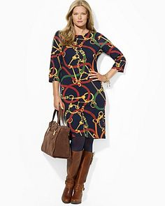 Lauren Ralph Lauren Plus Loxlynn Dress with Button Shoulder | Bloomingdale's