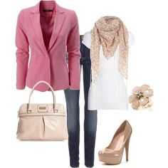 Casual Friday with a pop of color, created by alana2187.polyvore.com
