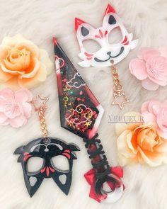 Knife Aesthetic, Craft Day, Resin Charms, Handsome Anime Guys, Katana, Akatsuki, Keychains, Otaku, Weapons