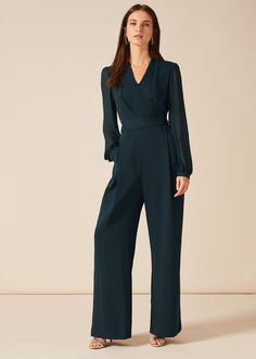 This effortless evening jumpsuit is a sleek silhouette that works for every event. We're accessorising ours with statement earrings for evenings out, and a fascinator for special occasions.Phase Eight Jumpsuit Hijab, Jumpsuit For Wedding Guest, Bridesmaid Dress Colors, Stylish Dress Designs, Evening Outfits, Phase Eight, Jumpsuits For Women, Fashion Outfits, Women's Fashion