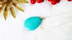 $34 Southwestern Style Genuine Turquoise Pendant on Sterling Silver Chain by BlueWorldTreasures.Etsy.com Use #discountcode PIN10 for 10% off in my shop