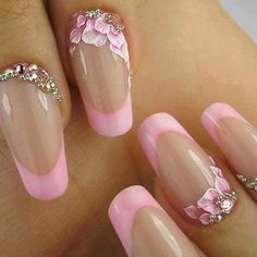 Friendly Nail Art Community with Nail Art Picture and Video Tutorials. Make your nails look awesome and share your nail art designs! 3d Nail Art, Acrylic Nail Art, Cool Nail Art, Nail Arts, Fancy Nails, Pink Nails, Cute Nails, Pretty Nails, Red Nail
