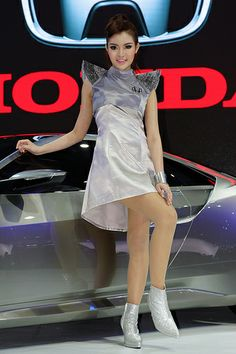 Beautiful, sexy presenter for Honda at the 30th Thailand International Motor Expo 2013