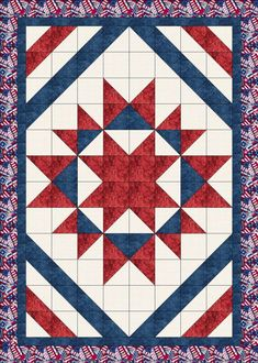 Quilt Jubilee by Lisa Sutherland - Patriotic Quilts Big Block Quilts, Star Quilt Blocks, Blue Quilts, Star Quilts, Mini Quilts, Dog Quilts, Easy Quilts, Flag Quilt, Patriotic Quilts