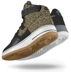 Custom air force one high tops at NikeID. I <3 these leaopard print ones!!!