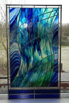 Traditionalstained glass for your windows, but with a modern twist. #StainedGlassAbstract