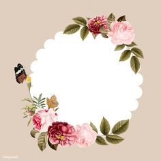 New nature wallpaper background awesome Ideas Butterfly Frame, Flower Frame, Flower Backgrounds, Wallpaper Backgrounds, New Nature Wallpaper, Floral Border, Free Illustrations, Watercolor Flowers, Vector Art