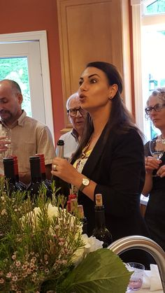 The Savory Grape's sommelier joined us at this anniversary celebration. The hostess treated her guests to a special wine tasting.