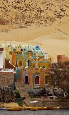 Nubian Village on the banks of River Nile, Egypt. travel images, travel photography