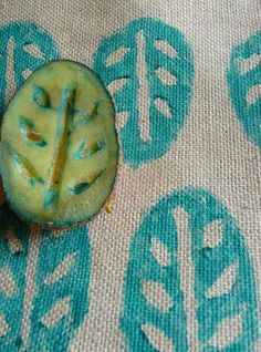 potato stamp-would make great patterns on linen for pillows                                                                                                                                                     More