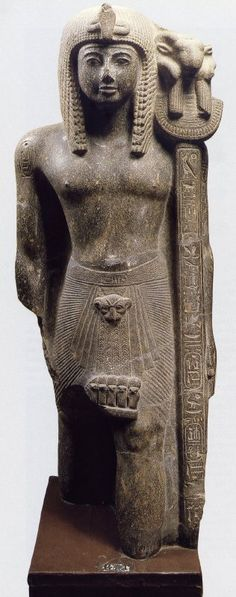 Statue of Ramesses III as a Standard-Bearer of Amun-Re. Material: Gray Granite  / Usimare Ramesses III (also written Ramses and Rameses) was the second Pharaoh of the Twentieth Dynasty and is considered to be the last great New Kingdom king to wield any substantial authority over Egypt. Ramesses III was the son of Setnakhte and Queen Tiy-Merenese. He was probably murdered by an assassin in a conspiracy led by one of his secondary wives and her minor son.