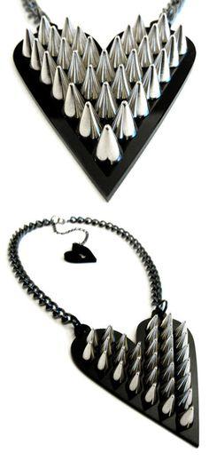 Heartbreaker neckless, by Amelia Arsenic   #amelia arsenic #destroyx #angelspit #alternative fashion #goth #cyberpunk #acessories
