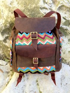 BROWN SIERRA ZIG ZAG BLACKROCK PACK