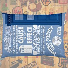 """NEW HOT!!! Doctor Who Tardis David Tennant Quotes Pillow Case 30""""X20"""" One Sides Pillowcase for Gifts & Followers #01"""