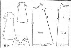 Vintage Nightgown Pattern from the Ladies' Home Journal- 1907. by realhistoricalpatterns.tumblr.com
