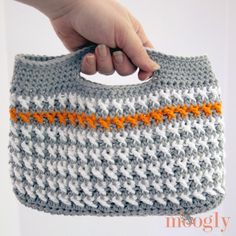 The Busy Girl's Crochet Handbag is a great pattern to make if you're always on-the-go. It measures about 11 inches wide and 7 inches tall, which is the ideal size to take wherever your adventures lead you.