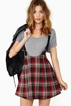 Dropout Suspender Skirt
