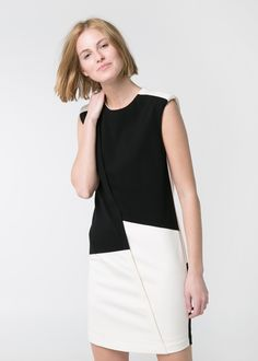 Monochrome Ponte Dress