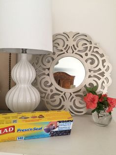 A favorite DIY Hck--using Glad Press'n Seal for Painting @gladproducts @walmart #pmmedia #ad #pressnsealhacks