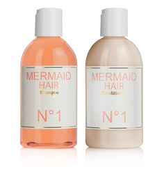 mermaid hair care... orange blossom flowers & coconut fragrance... enhances shine, softness, elasticity, luster & tames flyways... not tested on animals - made with love.