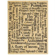 Autumn Words Wood Stamp Front
