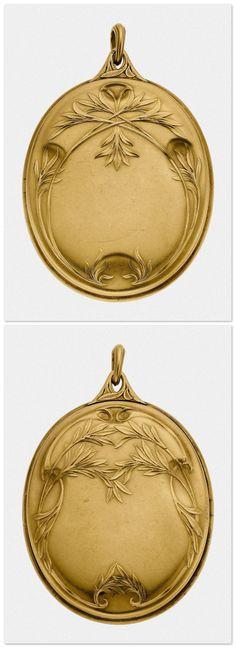 Boucheron   Art Nouveau Diamond, Gold Pendant-Locket. Paris, 1902.