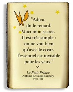 The Little Prince, someday to be able to read the whole book in french!!