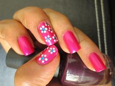 Fotos de uñas pintadas color rosa - 50 ejemplos - Pink Nails - http://xn--decorandouas-jhb.com/fotos-de-unas-pintadas-color-rosa-50-ejemplos/