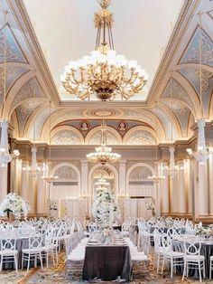 Glamorous Great Gatsby-inspired ballroom wedding venue New Years Wedding, Great Gatsby Wedding, Ballroom Wedding, Wedding Reception, Wedding Venues, Wedding Designs, Wedding Styles, Reception Design, Philadelphia Wedding