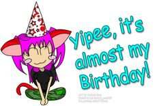Almost Happy Birthday | Yipee, It's almost my birthday! :D by Youkai_exe807