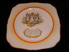 Commemorative 1939 Plate King George and Queen Elizabeth's Visit to Canada by theEthnicEclectic, $9.00