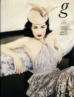 silver - Dita Von Teese.She is so incredibly beautiful