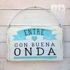 Cartel vintage   BUENA ONDA