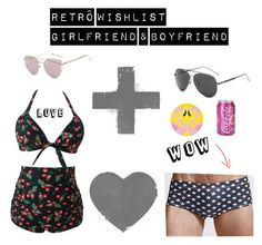 """Retro Boyfriend & Girlfriend"" by bela-carapinheiro-valimaa on Polyvore featuring Sunnylife"