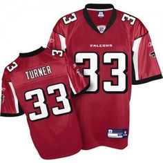 Michael Turner Jersey, #33 Atlanta Falcons Authentic NFL Jersey in Team Color  ID:313  Price:$20