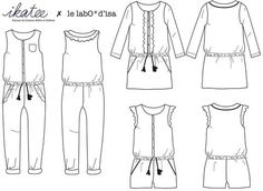 Marieke - Jumpsuit, playsuit & dress - Girl 3/12 Sewing Pattern – Ikatee