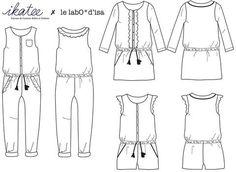 Marieke - Jumpsuit, playsuit & dress - Girl 3/12 Sewing Pattern – Ikatee