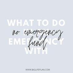 ⚡️ N E W  B L O G  P O S T ⚡️ • What should you do in an (financial) emergency without an emergency fund? I know many people have found themselves in this situation. I hope this article will have some practical tactical tips for you. 💛 •  #moneymanagement #moneygoals #moneygoals2020 #budget #budgeting #spending #spendingplan #saving #savemoney #personalfinance #money #moneycoach #debtfree #debtfreegoals #finance #financialfreedom #financialdomination #financialindependence #moneyadvice… Debt Free, Money Management, Personal Finance, Saving Money, Budgeting, Goals, How To Plan, Tips, People