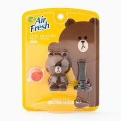 Naver Line Friends Characters Home Car Vent Clip Air Freshener Musk Scent Brown…